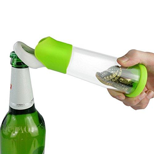 original-thesmartguard-abrebotellas-con-deposito-colector-para-chapas-y-tapa-de-botellas-en-verde