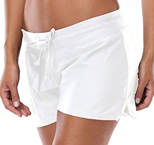 white board shorts womens