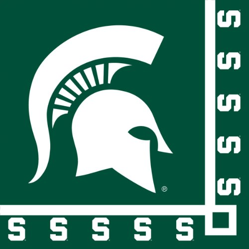 Creative Converting Michigan State Spartans Beverage Napkins (20 Count) (Football Beverage Napkins compare prices)
