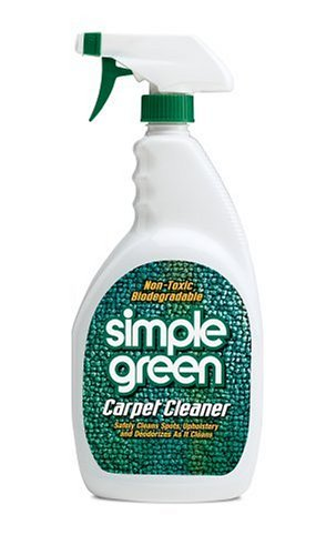 Simple Green Carpet and Upholstery Cleaner, Trigger Spray, 22-Ounce (Pack of 12)