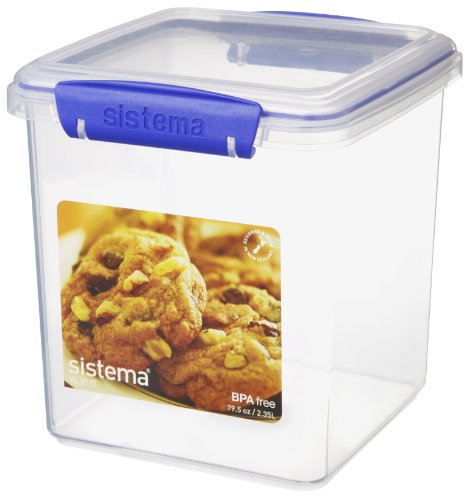 Sistema Klip It Cookie Tub, 79.5-Ounce