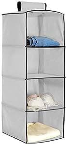hokipo hanging 4 shelf closet cloth organizer 30 x 30 x. Black Bedroom Furniture Sets. Home Design Ideas