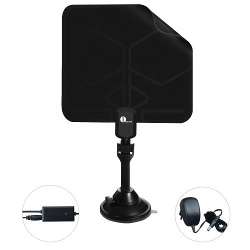 "Best Review Of 1Byone® 0.02"" Paper Thin Digital Indoor TV Antenna Aerial Ultra Thin Lightweigh..."