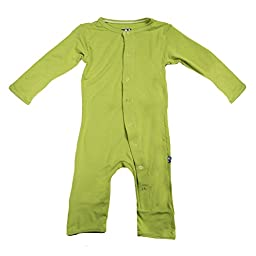 KicKee Pants Unisex-Baby Onepiece Print Coverall Romper- Meadow, 12-18 Months