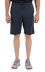 LLUMINATI Men's Cotton Shorts (Bermuda Navy, Navy, XL)