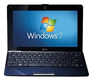 Asus 1008HA 10-inch Netbook (Atom N280 1.6 GHz Processor, 1 GB RAM, 250 GB HDD, up to 5.5 Hours Battery Life, Bluetooth, Windows 7 Starter, Very Dark Blue)
