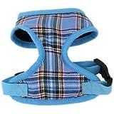 Banggood Pet Dog Puppy Plaid Mesh Adjustable Harness Clothes Chest Vest Size M Blue