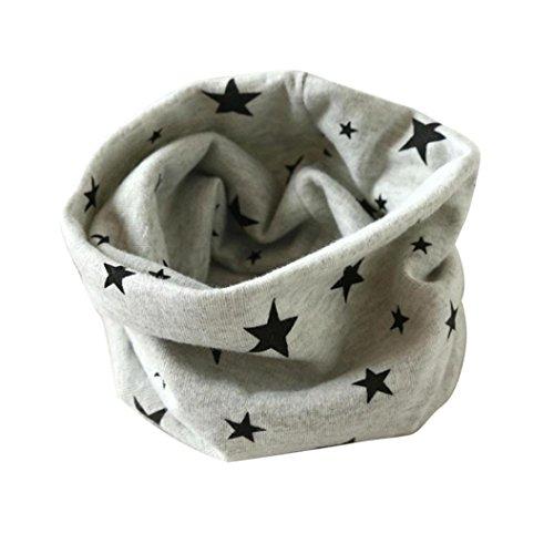 Culater® Autunno Inverno Ragazzi Ragazze Collare bambino Sciarpa Cotone O Ring collo sciarpa (Grigio)