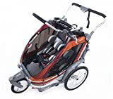 Chariot Chinook 2 Chassis with Pivoting Front Wheel, Up To 2 Children - Pumpkin