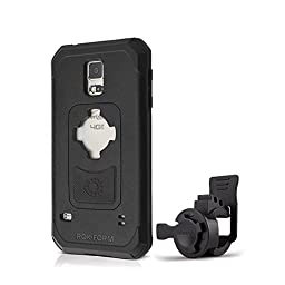 Rokform Sport Series Bike Mount Kit and Rugged Sport Protective Case, Safely lock your phone in place with the Quad Tab and Magnetic Mount System, for Samsung Galaxy S5 (Black)