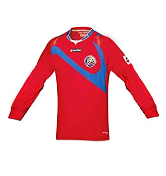 Buy Lotto Costa Rica Home Jersey Long Sleeve Red 2014 by Lotto