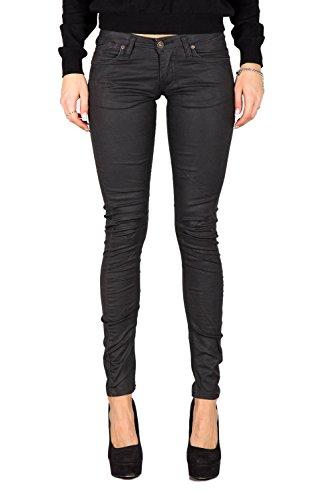 PLEASE - P21 jeans da donna pantaloni slim fit xxs nero