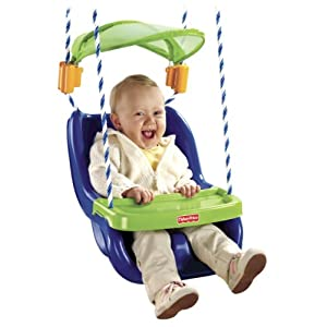 Baby outdoor swing fisher price infant to toddler swing for Baby garden swing amazon