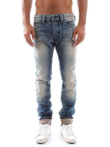 DIESEL - - Uomo - Jean slim washed vintage used Thavar pour homme -
