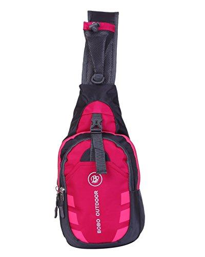 軽やか 便利 ワンショルダー 防水 斜め掛け バッグ ショルダー メンズ レディース (ピンク)
