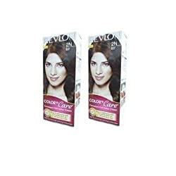Revlon Color N Care Permanent Hair Color Cream - Brown Black 2N (Pack of 2)