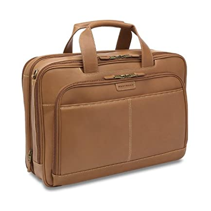 Hartmann Belting Leather Double Compartment Expandable Briefcase
