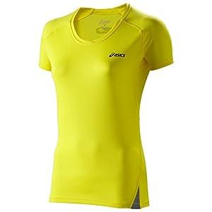 Asics Fuji T-shirt de course à pied léger pour femme Jaune Jaune vif X-large