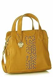 Butterflies Handbag (Mustard) (BNS 0455 MSD)