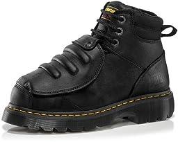 Dr. Martens Men\'s Ironbridge MG ST Steel-Toe Met Guard Boot,Black,7 UK/8 M US