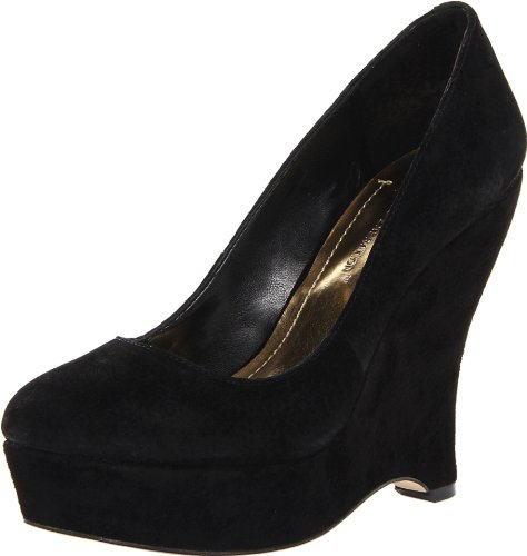 BCBGeneration Women's Carleen Wedge Pump,Black,6.5 M US