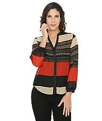 Philigree Women's Printed Shirt (325 0102_Red_Medium)
