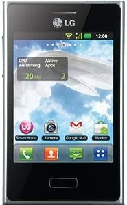 LG E400 Optimus L3 Smartphone (8,1 cm (3,2 Zoll) Touchscreen, 3 Megapixel Kamera, microSD-Slot, Android 2.3) weiß