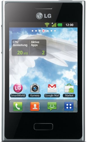 LG E400 Optimus L3 Smartphone (8,1 cm (3,2 Zoll) Touchscreen, 3 Megapixel Kamera, microSD-Slot, Android 2.3) wei
