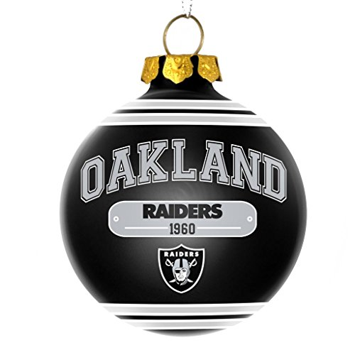 Oakland Raiders Official NFL 2014 Year Plaque Ball Ornament