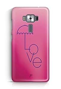 YuBingo Love Umbrella Designer Mobile Case Back Cover for Asus Zenfone 3 Deluxe