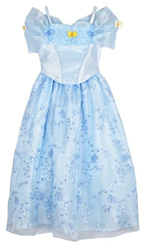 [Rush Dance 2015 Blue Butterfly Cindy Cinderella Costume Princess Costume Dress (3T-4T (110))] (Princess Jasmine Costumes Tiara)