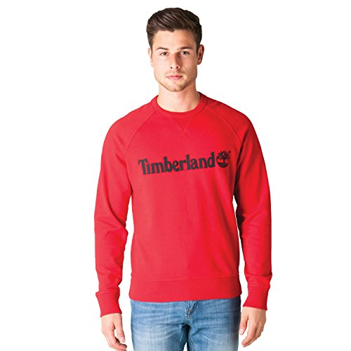 TIMBERLAND FELPA EXETER RIVER LOGO RAGLA MEDIUM HAUTE RED (S)