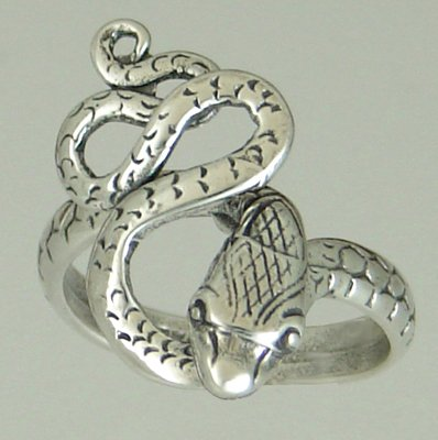 A Special Little Sterling Silver Snake Ring - A Good Pinkie Ring Made in America