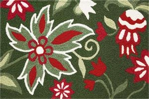 Amazon Abigail Christmas Rug Red Green Floral