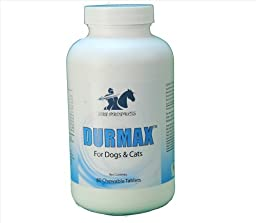 Dog Allergies - Durmax Healthy Skin and Coat Allergy Relief Pet Supplements for Dogs & cats Ideal for Dog Mange & Hot Spots on Pets. Natural Allergy Treatment for Skin Irritation for Dogs Dry Skin