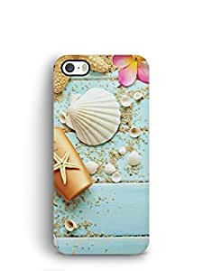 Cover Affair Sea Shells Printed Back Cover Case for Apple iPhone 5S