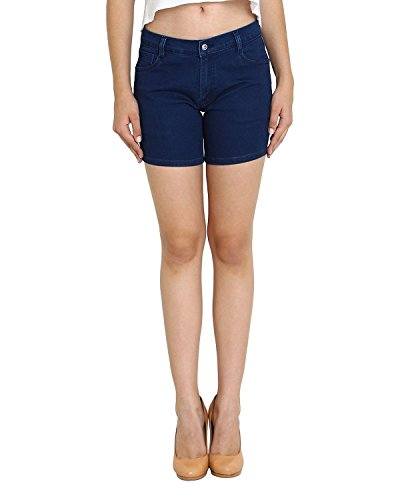 Trendy-Trotters-Cotton-Stretchable-Denim-Shorts-for-Ladies
