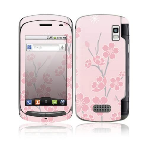 Cherry Blossom Design Decorative Skin Cover Decal Sticker for LG Genesis US760 Cell Phone