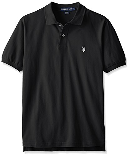 Fishlander boating u s polo assn men 39 s solid polo for Polo shirt with fish logo