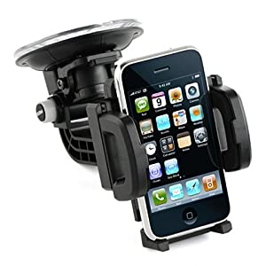 Heavy-Duty Universal Car Mount Holder for Cellphone, MP3 Player, iPhone, iPod Touch, BlackBerry, Droid, GPS Garmin, TomTom, Magellan