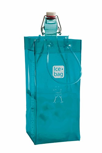 Ice Bag Is Portable and Folds for easy Storage - Blue Lagoon