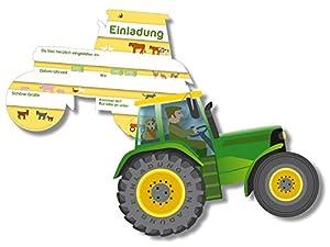 Einladungskarten Traktor Bauernhof isis wimmelwelt: Amazon.de ...
