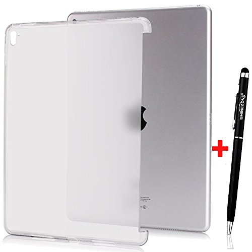 ShineZoneオリジナルiPad Pro 9.7 ケース 極薄 ソフト 簡約風 超軽量 耐衝撃 TPUケース 半透明 スマートキーボード/カバーに対応したデザイン (ホワイト) )