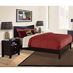 Canova 3 Piece Bedroom Set In Cappuccino By Lifestyle Solutions Bedroom Furniture