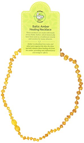 "Momma Goose Teething Necklace, Unpolished Honey, 15"" - 1"