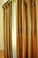 Flame Silk Satin Striped curtain
