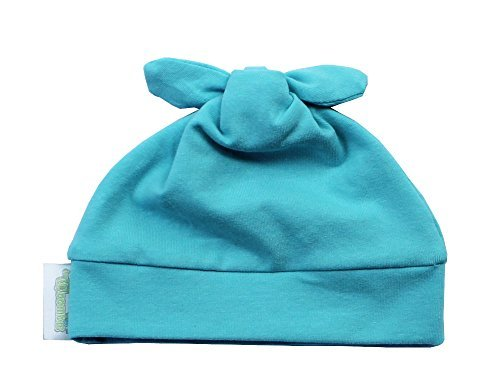 Woombie Cotton Double Knot Beanie Hats, Tahiti, 0-6m - 1