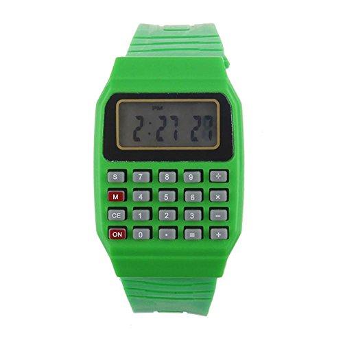 ouneed-fashion-boy-girl-multi-purpose-datetime-electronic-wrist-watch-green
