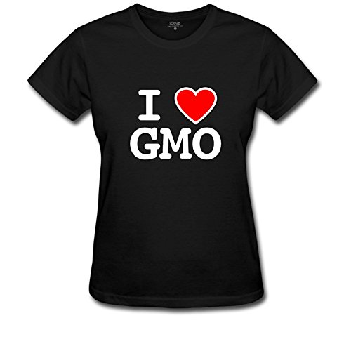 lcoup Women's I GMO Basic Funny O-neck T-Shirts L Black (Gmod Figure compare prices)