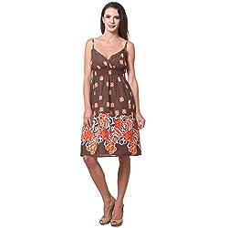 Kotty Women's Hem Dress(KTTDRESS06XL_Multi_X-Large)